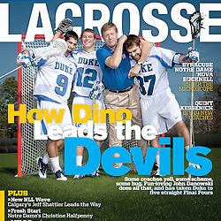 2012-01-25 Inside Lacrosse Photo Shoot with Duke Lacrosse