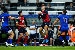 Jonny May of England catches the ball - Mandatory by-line: Robbie Stephenson/JMP - 06/09/2019 - RUGBY - St James's Park - Newcastle, England - England v Italy - Quilter Internationals