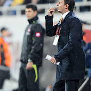 Kayserispor's coach Shota ARVELADZE during their Turkish superleague soccer match Besiktas between Kayserispor at BJK Inonu Stadium in Istanbul Turkey on Saturday, 15 October 2011. Photo by TURKPIX