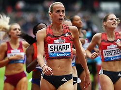 July 22, 2018 - London, United Kingdom - Lynsey Sharp of Great Britain after  the 800m Women during the Muller Anniversary Games IAAF Diamond League Day Two at The London Stadium on July 22, 2018 in London, England. (Credit Image: © Action Foto Sport/NurPhoto via ZUMA Press)