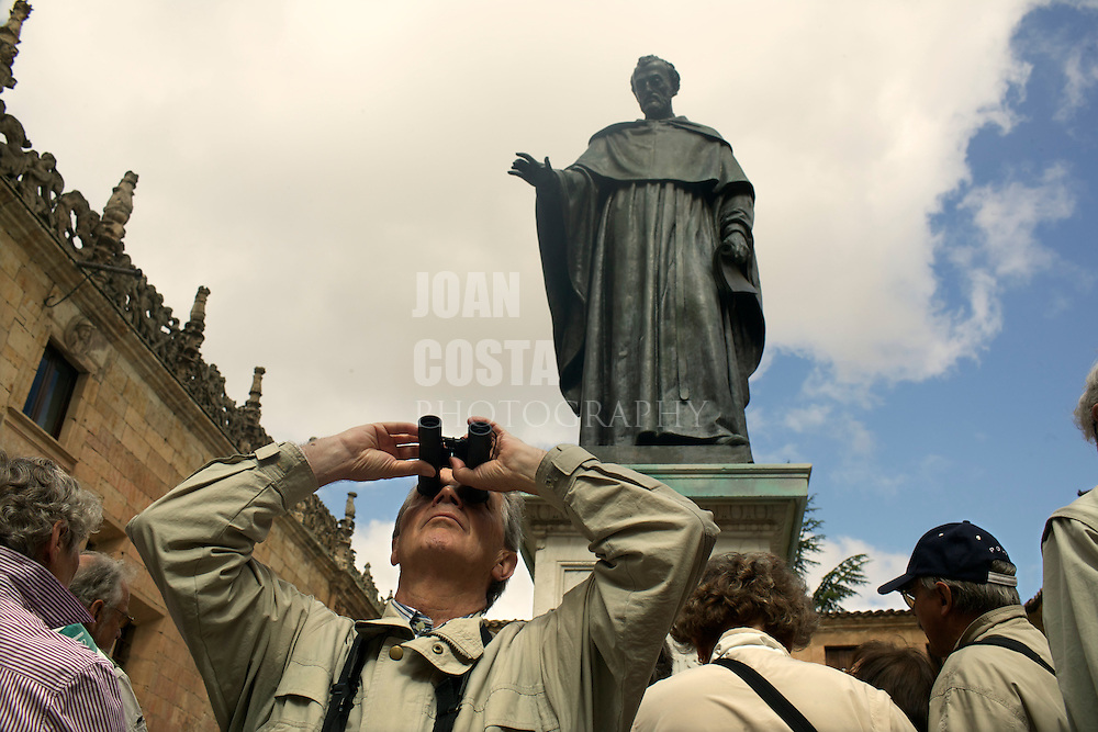 España. Castilla-La Mancha. Salamanca <br /> Estatua en la Plaza de la Universidad<br /> <br /> © JOAN COSTA
