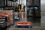 Bags of potatoes sit stacked on pallets at the Second Harvest Heartland Headquarters in Brooklyn Park, Minnesota, U.S., on Thursday, July 23, 2020. Photographer: Ben Brewer/Bloomberg