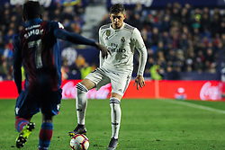 February 24, 2019 - Valencia, Valencia, Spain - Valverde of Real Madrid  in action during La Liga Spanish championship, football match between Levante and Real Madrid, February 24th, Ciudad de Valencia stadium, in Valencia, Spain. (Credit Image: © AFP7 via ZUMA Wire)