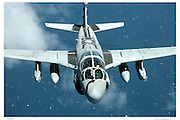 EA-6B Prowler in flight, aerial