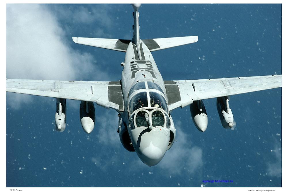 EA-6B Prowler in flight, aerial