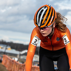 20190201: UCI CX Worlds : Dübendorf: Puck Pieterse pictured during the first ever championships for women juniors