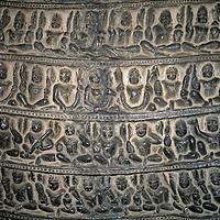 Asia, India, Khajuraho.  Close up of carved detail on the boar (incarnation of Vishnu) in the Varaha Temple at Khajuraho.