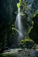 Oceania, New Zealand, Aotearoa, South Island, West Coast waterfall in Westland National Park