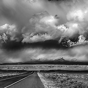 Sleeping Ute Mountain near Towaoc, Colorado seems to be the epicenter of this winter storm with fast changing skies.
