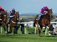 Grand National Meeting - Ladies' Day<br /> e.g. of caption:<br /> National Hunt Horse Racing - 2017 Randox Grand National Festival - Friday, Day Two [Ladies' Day]<br /> <br />   <br /> Husking on Worlds End wins the 6th race 16.40 Doom Bar Sefton Novices' Hurdle (Grade 1) (Class 1) 3m 149y, Good 11 Runners.at Aintree Racecourse.<br /> <br /> COLORSPORT/WINSTON BYNORTH