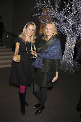 Left to right, AMANDINE MELLON and URTE HALABI at the Asprey Winter Wonderland party held at their store, 167 New Bond Street, London on 4th December 2008.