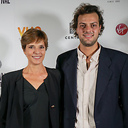 London, England, UK. 28th September 2017. Bettina Giovannini is a actress and Producer Lorenzo Fiuzzi of Noble Earth attend Raindance Film Festival Screening at Vue Leicester Square, London, UK.