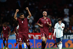 March 22, 2019 - Madrid, MADRID, SPAIN - Leo Messi of Argentina lamenting during the international friendly football match played between Argentina and Venezuela at Wanda Metropolitano Stadium in Madrid, Spain, on March 22, 2019. (Credit Image: © AFP7 via ZUMA Wire)