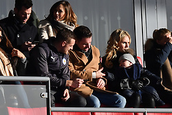 Leicester City's Jamie Vardy in the stands