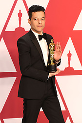 """Rami Malek, winner of the Best Actor In A Leading Role Award for """"Bohemian Rhapsody"""" at the 91st Annual Academy Awards"""