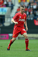Liverpool's Jordan Rossiter in action. Pre-season friendly match, Preston North End v Liverpool at Deepdale in Preston, England on Saturday 19th July 2014.<br /> pic by Chris Stading, Andrew Orchard sports photography.