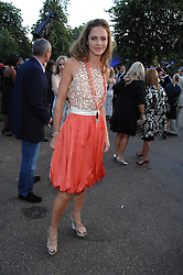 TRINNY WOODALL at the annual Serpentine Gallery Summer Party in association with Swarovski held at the gallery, Kensington Gardens, London on 11th July 2007.<br />
