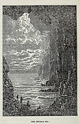 The Central Sea from the book ' A journey to the centre of the earth ' by Jules Verne (1828-1905) Published in New York by Scribner, Armstrong & co 1874