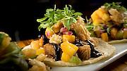 The pork belly tacos Wednesday, Aug. 6, 2014 at Shaman. (Brian Cassella/Chicago Tribune) B583917857Z.1 <br /> ....OUTSIDE TRIBUNE CO.- NO MAGS,  NO SALES, NO INTERNET, NO TV, CHICAGO OUT, NO DIGITAL MANIPULATION...