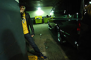 Chad Smith of The Red Hot Chili Peppers is seen in the garage taking a break at Fuse for a live performance in Manhattan, NY. They have released a new album. 5/9/2006 Photo by Jennifer S. Altman