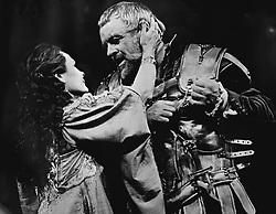 Judi Dench as Cleopatra and Anthony Hopkins as Mark Antony during rehearsals for the National Theatre's production of Antony and Cleopatra by William Shakespeare, which opens at the Olivier Theatre on London's South Bank.