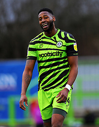 Jamille Matt of Forest Green Rovers cuts a dejected figure- Mandatory by-line: Nizaam Jones/JMP - 16/01/2021 - FOOTBALL - innocent New Lawn Stadium - Nailsworth, England - Forest Green Rovers v Port Vale - Sky Bet League Two