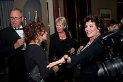 ZOE WANAMAKER; SALLY BRAMPTON; RUBY WAX, Veuve Clicquot Tribute award dinner for Ruby Wax for her outstanding contribution to the greater understanding of mental illness in the UK. Berkeley Hotel, London. 25 November 2011.