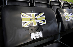 The seat of Forest Green Rovers manager Mark Cooper- Mandatory by-line: Nizaam Jones/JMP - 16/01/2021 - FOOTBALL - innocent New Lawn Stadium - Nailsworth, England - Forest Green Rovers v Port Vale - Sky Bet League Two