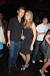 Model HENRY BARNACLE and CAROLINE MONGEAU at a party to celebrate Zandra Rhodes's return to London Fashion week and the launch of a limited edition of M.A.C makeup at Silver, 17 Hanover Square, London W1 on 20th September 2006.<br /><br />NON EXCLUSIVE - WORLD RIGHTS