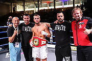 Boxen: Petko's Boxpromotion, Boxgala, Lübeck, 04.09.2021<br /> Deutsche Meisterschaft: John Bielenberg (GER) - Evgenij Melzer (GER)<br /> © Torsten Helmke