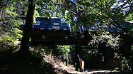Coos Bay Rail on Trestle
