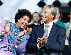 June 18, 1990 - Toronto, Ontario, Canada - NELSON MANDELA and WINNIE MANDELA.  (Credit Image: © Colin McConnell/Toronto Star/ZUMA Press)