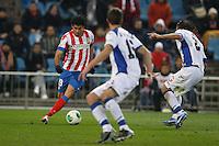 12.12.2012 SPAIN - Copa del Rey 12/13 Matchday 8th  match played between Atletico de Madrid vs Getafe C.F. (3-0) at Vicente Calderon stadium. The picture show Diego da Silva Costa (Brazilian midfielder of At. Madrid)