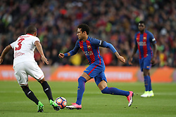 April 5, 2017 - Barcelona, Spain - NEYMAR of FC Barcelona during the Spanish championship Liga football match between FC Barcelona and Sevilla FC on April 5, 2017 at Camp Nou stadium in Barcelona, Spain. (Credit Image: © Manuel Blondeau via ZUMA Wire)