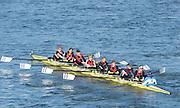 London, United Kingdom. Ruderclub Tegel. [GER].  from Barnes Rail Bridge. 2014 Women's Head of the River Race. Chiswick to Putney, River Thames.  Saturday  15/03/2014    [Mandatory Credit; Peter Spurrier/Intersport-images]