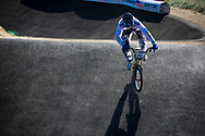 #110 (CAIRNS Max) AUS at the 2013 UCI BMX Supercross World Cup in Chula Vista