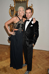 The HON.SOPHIA HESKETH and ROB SHEFFIELD at the Sugarplum Dinner in aid Sugarplum Children a charity supporting children with type 1 diabetes and raising funds for JDRF, the world's leading type 1 diabetes research charity held at One Marylebone, London on 18th November 2015.
