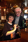 Maire deBarra and husband  Pat Leahy who are selling their Dingle pub for over £1,000,000. The popular waterdside bar was witrhdrawn from auction last week after bidding reached the magical million and negotiations are now under way with potential buyers. The couple plan to live in Ballyferriter way from all the hustle and bustle of the licensing trade.<br /> Picture by Don MacMonagle
