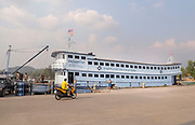 Maintenance of a ferry at a port in Ko Pha-ngan, Thailand