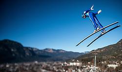 31.12.2016, Olympiaschanze, Garmisch Partenkirchen, GER, FIS Weltcup Ski Sprung, Vierschanzentournee, Garmisch Partenkirchen, TRaining, im Bild Michael Hayboeck (AUT), mit einem Tilt & Shift Objektiv fotografiert // Michael Hayboeck of Austria photographed with a Tilt & Shift lens during his Practice Jump for the Four Hills Tournament of FIS Ski Jumping World Cup at the Olympiaschanze in Garmisch Partenkirchen, Germany on 2016/12/31. EXPA Pictures © 2016, PhotoCredit: EXPA/ JFK