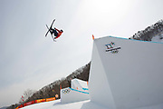 Tyler Harding Great Britain during the mens ski slopestyle qualifications at the Pyeongchang Winter Olympics on 18th February 2018 at Phoenix Snow Park in South Korea