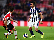 Nacer Chadli of West Bromwich Albion in action .Premier league match, Southampton v West Bromwich Albion at the St. Mary's Stadium in Southampton, Hampshire, on Saturday 21st  October 2017.<br /> pic by Bradley Collyer, Andrew Orchard sports photography.