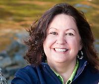 Outdoor portrait of Jane Nahirny, Editor-in-Chief of British Columbia Magazine.