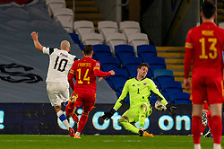 CARDIFF, WALES - Wednesday, November 18, 2020: Wales' goalkeeper Daniel Ward during the UEFA Nations League Group Stage League B Group 4 match between Wales and Finland at the Cardiff City Stadium. Wales won 3-1 and finished top of Group 4, winning promotion to League A. (Pic by David Rawcliffe/Propaganda)