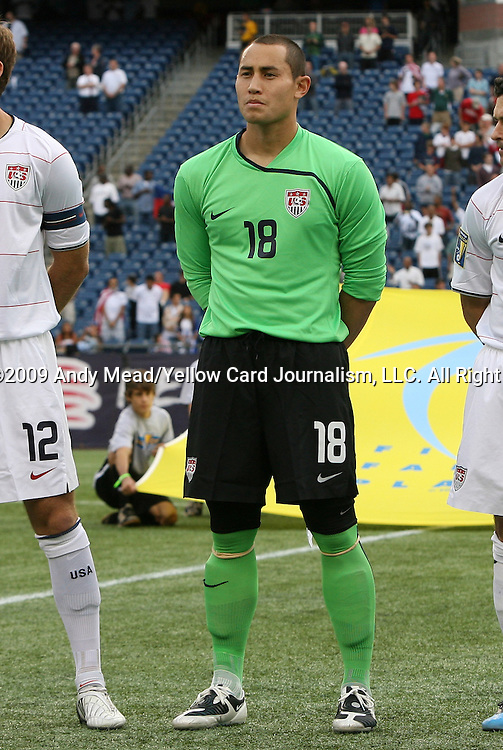 11 July 2009: Luis Robles (USA). The United States Men's National Team played the Haiti Men's National Team to a 2-2 tie at Gillette Stadium in Foxboro, Massachusetts in a 2009 CONCACAF Gold Cup first round game.