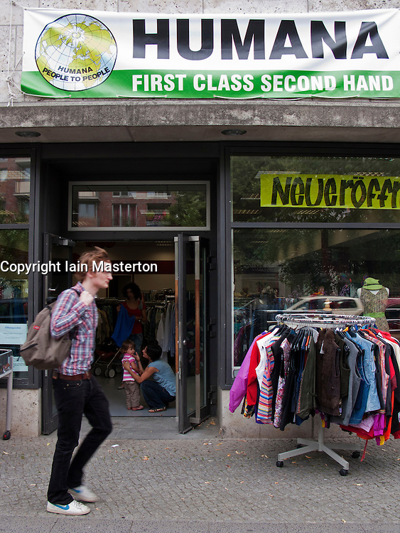 Humana second hand charity shop in Berlin Germany