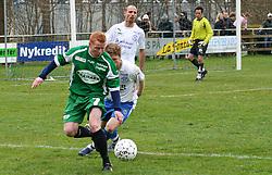 FODBOLD: Ronni Andersen (Helsingør) under kampen i Kvalifikationsrækken, pulje 1, mellem Rishøj Boldklub og Elite 3000 Helsingør den 9. april 2007 på Rishøj Stadion. Foto: Claus Birch