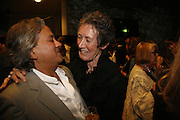 Anish Kapoor and Angela Bernstein, Sadler's Wells Celebrates. Benefit evening for Sadler's Wells hosted by Angela Bernstein and Alistair Spalding. The Royal Horticultural Halls. London. 25 September 2006. -DO NOT ARCHIVE-© Copyright Photograph by Dafydd Jones 66 Stockwell Park Rd. London SW9 0DA Tel 020 7733 0108 www.dafjones.com
