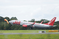 © Licensed to London News Pictures. 03/09/2020. Manchester, UK.  Jet2 flight LS869 takes off from Manchester Airport on its way to Faro, Portugal. Portugal could be added to the UK quarantine list today. Photo credit: Kerry Elsworth/LNP