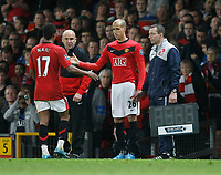 Photo: Steve Bond/Richard Lane Photography. Manchester United v Blackburn Rovers. Barclays Premiership 2009/10. 31/10/2009. Gabriel Obertan comes on as substitute